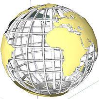 地球仪景观SU模型
