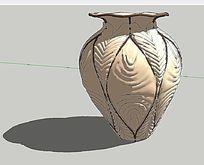 精致陶罐景观SU模型