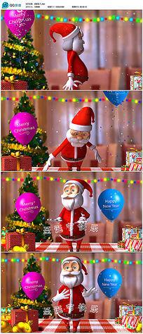 卡通圣诞老人高清视频素材