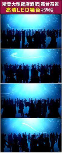 商务人群LED舞台背景视频