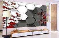 3D立体电视背景墙