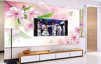 粉色梦境电视背景墙
