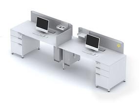 职员工作位桌上屏3dmax模型