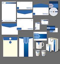 蓝色简洁大气企业VI设计应用