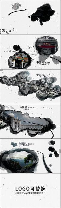 中国风水墨风格AE模板(含音乐)
