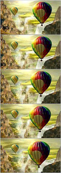 唯美云彩热气球led视频