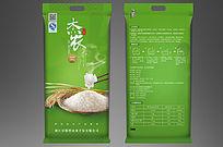 绿色大气大米包装