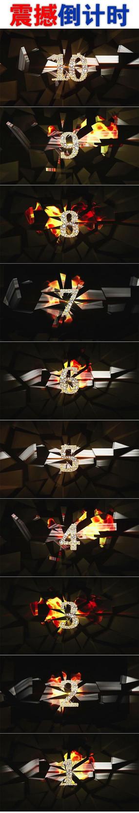 震撼钻石10秒倒计时视频素材