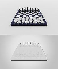 国际象棋模型3d模型