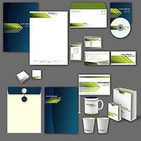企业绿色蓝色通用VI设计