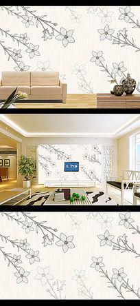 素雅花卉現代簡約客廳裝飾畫背景墻