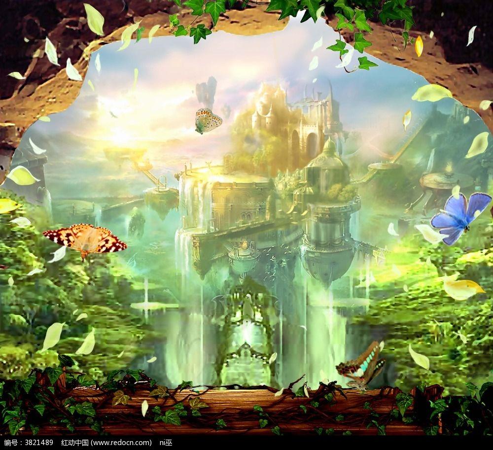 童话城堡3d3d立体画图片