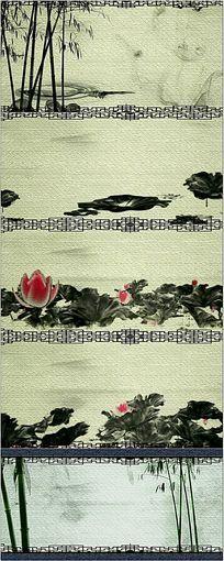 中国水墨画卷视频素材