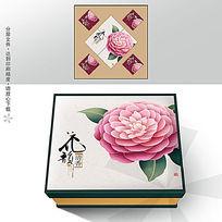 花韵清香月饼盒包装图片