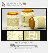 福鼎白茶茶叶罐子包装设计