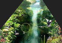 动物地坑3d立体画