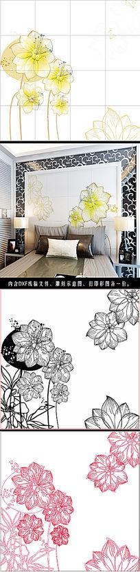 怡情悦性现代风格瓷砖背景墙