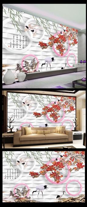 简约时尚中式背景墙