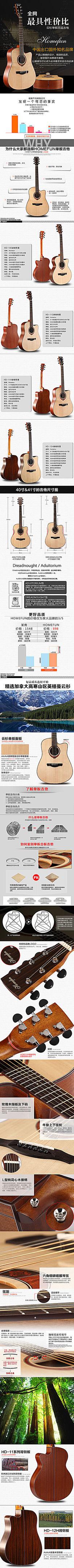 吉他乐器详情描述模板