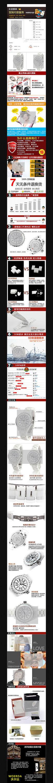 淘宝女士陶瓷手表详情页细节展示素材