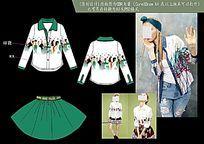 韩版衬衫设计稿矢量CDR格式