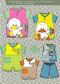 卡通婴童连体衣CDR矢量图
