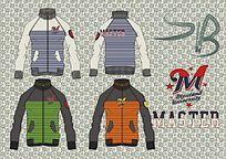 男装运动卫衣流行手稿 夹克 条纹针织衫