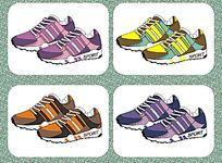 外贸运动鞋设计矢量手稿  运动鞋设计与配色