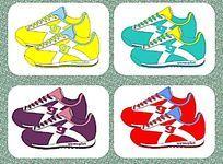 休闲运动鞋设计矢量手稿 板鞋 流行与配色