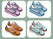 休闲运动鞋设计矢量手稿 板鞋   球鞋鞋样设计