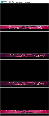 动态五角星字幕背景视频(带透明通道)