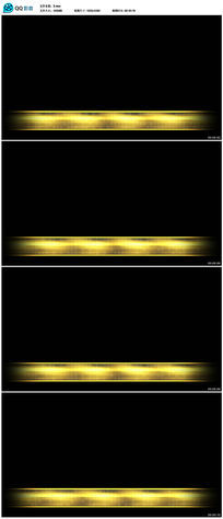 金黄色光线字幕背景视频(带透明通道)