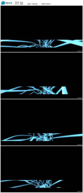 蓝色线条字幕背景视频(带透明通道)