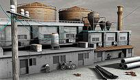 3D maya场景建模3D模型