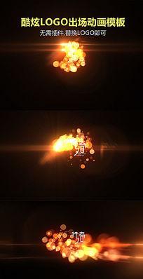 酷炫粒子LOGO闪光视频AE模板