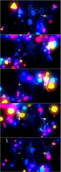 跳舞剪影led舞台背景视频