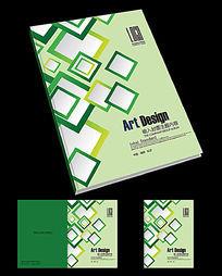 清爽方格产品手册封面设计