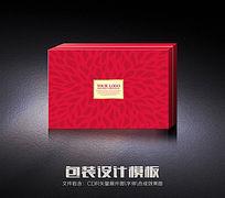 红色花纹包装盒(展开图)