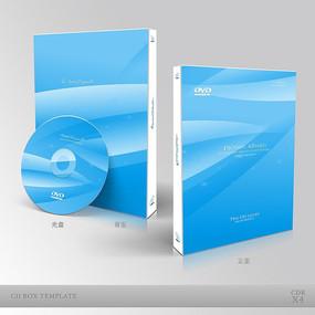 蓝色科技光盘封面设计