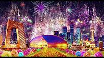 中国美歌曲演出舞台led视频背景