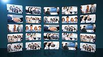 大气震撼企业员工照片墙AE模板视频