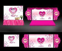 浪漫婚庆背景墙布置设计