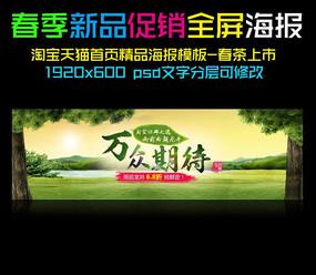 春天绿色春茶上市海报设计
