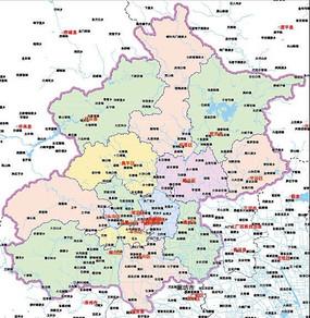 北京地图矢量
