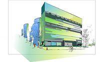 商场建筑街景插画
