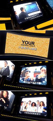 大气震撼企业员工照片墙视频AE模板
