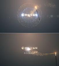 魔术棒挥出粒子魔法绘画出logo标志动画片头视频模板