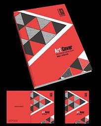 红色装饰公司宣传册封面