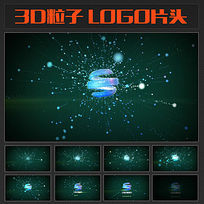 3D粒子LOGO片头视频模板