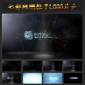 七彩斑斓粒子LOGO视频